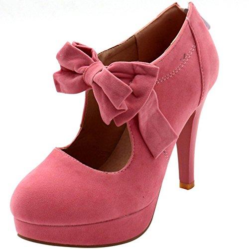 Scarpe 40 Una Rosa Donne Alto Delle Di Avevano Tacco Enmayer Colore Papillon Con YwdB7Bq