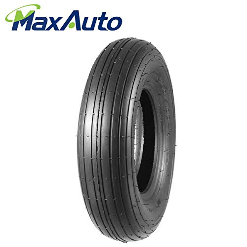 Lawn Garden Wheelbarrow Tire 4.80/4.00-8 4.80x8 480x8 Universal Fit Mowers, Hand Trucks, Carts, ()