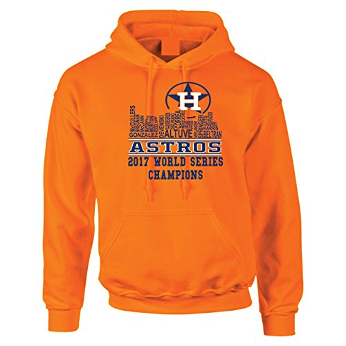 Local Imprint Houston Skyline Hoodie-XL-Orange-U4 (Astros Houston Clothes)
