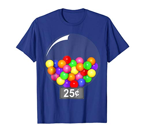 Gumball Machine Quarter Couples Halloween Costume T-Shirt -