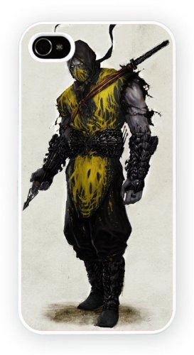 Mortal Kombat Scorpion, iPhone 4 4S, Etui de téléphone mobile - encre brillant impression