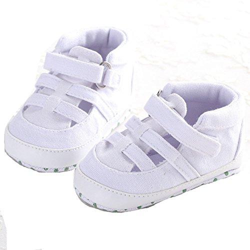 etrack-online bebé Infant Toddler Denim Velcro suave suela lona sandalias as the picture Talla:12-18months as the picture