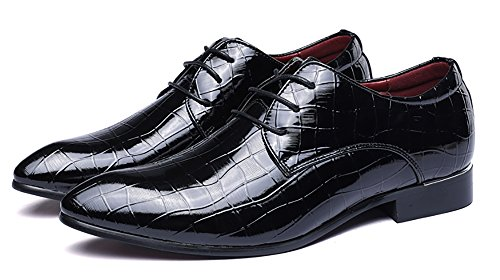 2018 Party Business Patent Men's Wedding Formal Glossy Black Eye Fashionable Design Catching Collection Oxfords Leather Shoes 4v4rq8w