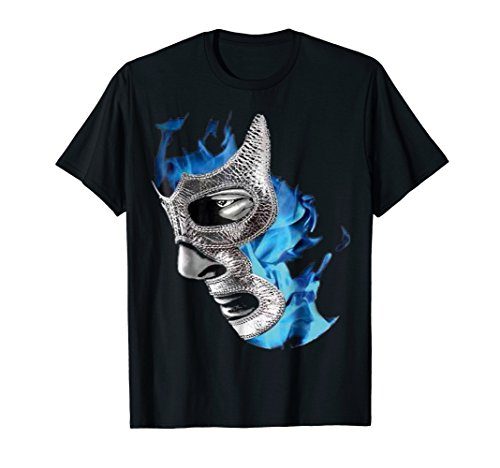 Blue Legend T-shirt - MEXICAN LUCHA LIBRE WRESTLING LUCHADOR BLUE LEGEND T-SHIRT