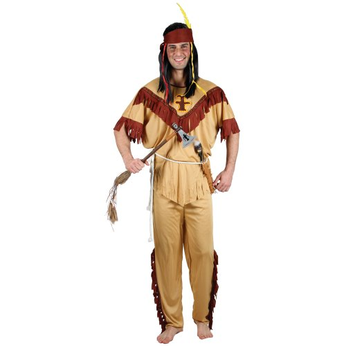 NATIVE INDIAN - BUDGET ADULT COSTUME FANCY DRESS UP PARTY (Native Indian Makeup)