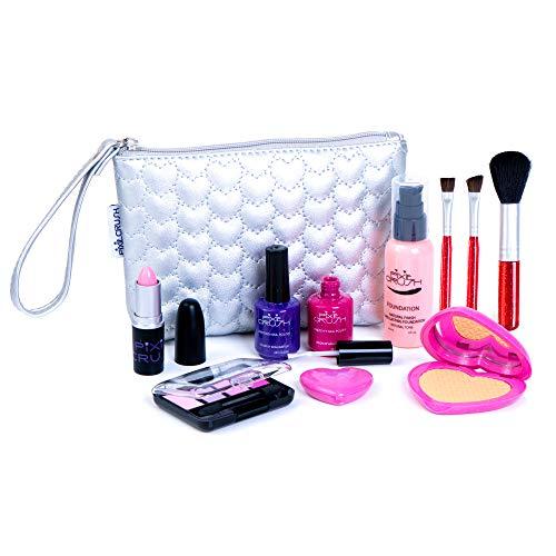 PixieCrush Pretend Play Makeup Kit. Designer Girls Love Set Heart Bag