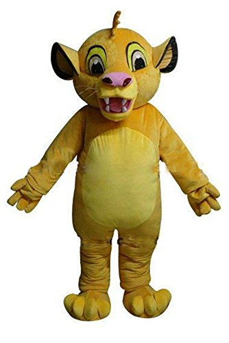 Cartoon The Lion King Mascot Costume for Adult Wear Deguisement Mascotte Carnival Outfits]()