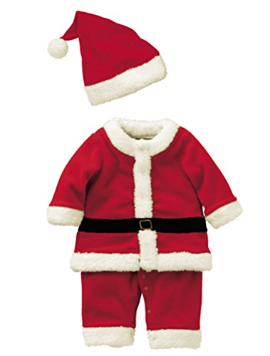 Abolai Baby Boys'Santa Romper Costume with Hat for Infant and Toddler Christmas Costumes Style1 -