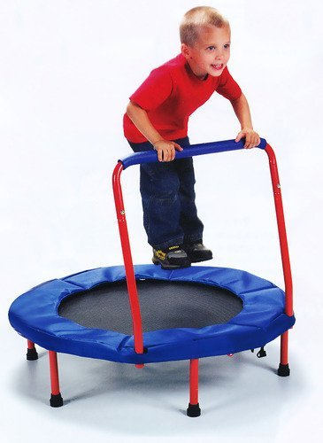 The Original Toy Company Fold & Go Trampoline  - Red Edition