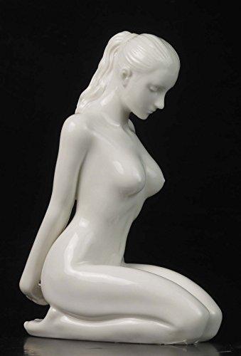 5.75 Inch Fine Porcelain Nude Female Figurine Hands Behind Back, (Fine Porcelain Statue)