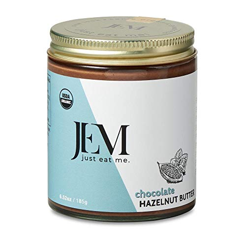 JEM - All Natural, Vegan, Organic, Dairy Free Chocolate Hazelnut Spread- Creamy Artisan Spread for Snacks and Sandwiches, 6 oz