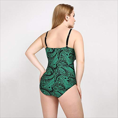 Pièce Des red vêtements Sous Maillot Une us16 De Taille Green Bain Mymao Siamois Grande Femmes Bikini Sexy q6xtEw87