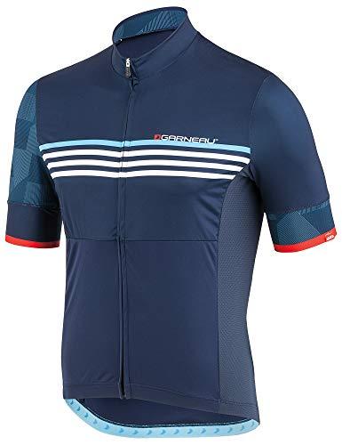 Louis Garneau Men's Equipe 2 Lightweight, Short Sleeve, Full Zip Cycling Jersey, Minimalist, X-Large