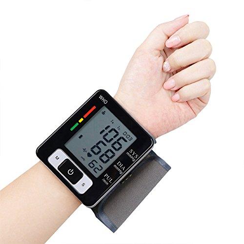 Wrist Blood Pressure Monitors - Health Care Germany Chip Auto Wrist Digital Blood Pressure Monitor Tonometer Meter Sphygmomanometer for Measuring And Pulse Rate (beige)