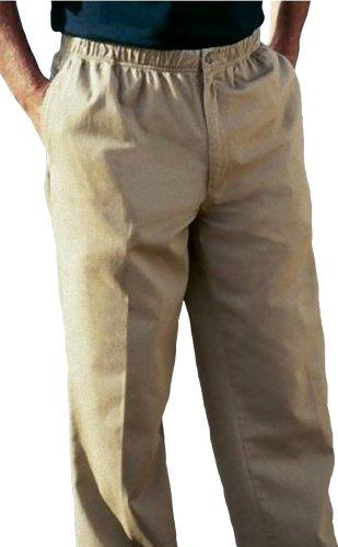 Falcon Bay Full Elastic Waist Casual Twill Pant  Khaki 50 X 30