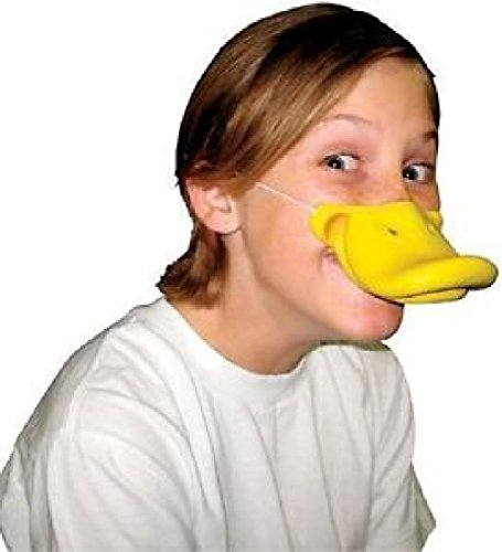 [Cute Creatures Duck Nose Bill Beak Kids Adults Halloween Costume Accessory] (Toucan Nose Costume)