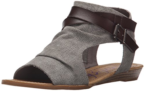 Blowfish de de Canvas Rancher Balla Sandalias Grey Steel cuña Mujeres 7TIwrEx7