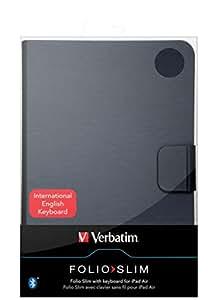 "Verbatim 98584 9.7"" Folio Negro funda para tablet - Fundas para tablets (Folio, Apple, iPad Air, 24,6 cm (9.7""), 510 g, Negro)"