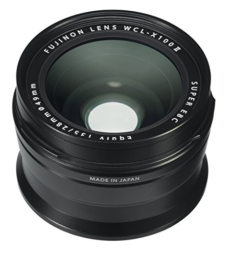 - Fujifilm Fujinon Wide Conversion Lens for X100 Series Camera, Black (WCL-X100 B II)