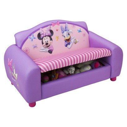 My Gn Disney Minnie Mouse Purple Kids Sofa Chair W Storage New
