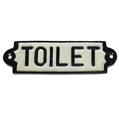 AB Tools Toilet Loo Cast Iron Sign Plaque Door Wall Fence Post Cafe Shop Pub Hotel Bar -
