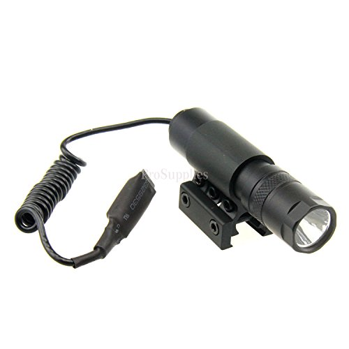TACFUN Tactical 90 LUMEN RIS Pressure Mount Switch Tactical Rifle Light LED Flashlight Light Gun Attachment