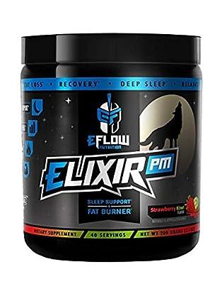 eFlow Nutrition Elixir PM Night Time Fat Burner Thermogenic Sleep Aid - 3 Flavor Options