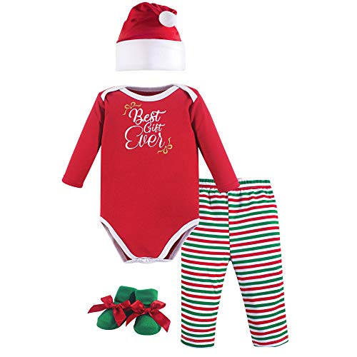 Hudson Baby Baby Holiday Clothing Gift Set, 4 Piece, Best Ever, 0-6 Months