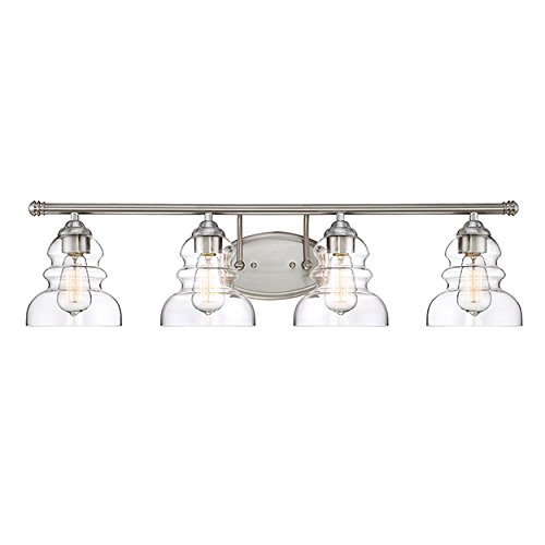 Millennium Lighting 7334-SN Millennium:Four Light Vanity 4-Light Bath Vanity In Satin Nickel