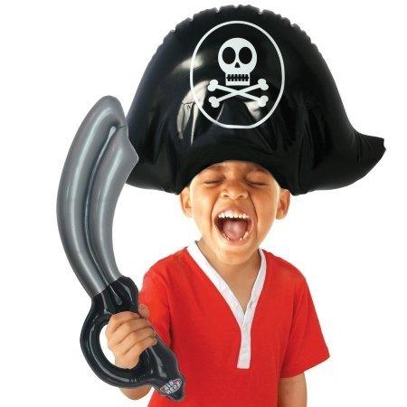 Sombrero y Espada Pirata Hinchable Infantil Cualquier día: Amazon ...