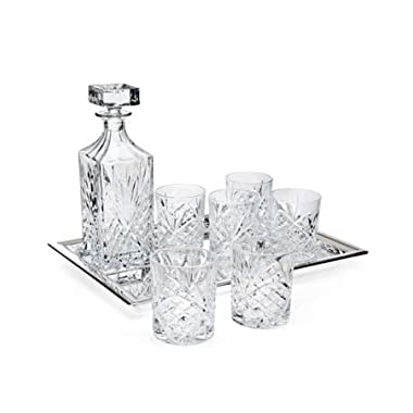 Dublin Whiskey-Bar Set 8 pc 6 dof, decanter