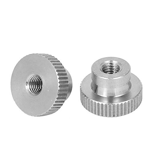 DealMux M5 Aç o Inox 304 Metric Knurled Thumb NUTS 2 Pcs para 3D Printer aquecida Bed
