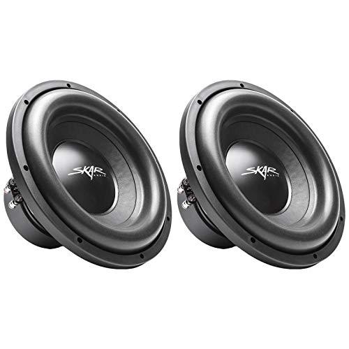 (2) Skar Audio SDR-12 D2 12″ 1200W Max Power Dual 2 Ohm Car Subwoofers, Pair of 2