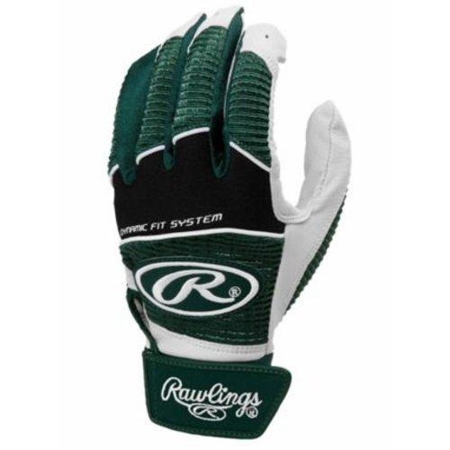 Dynamic Gloves - Rawlings WORK950BGY-DG-90 Youth Green Large