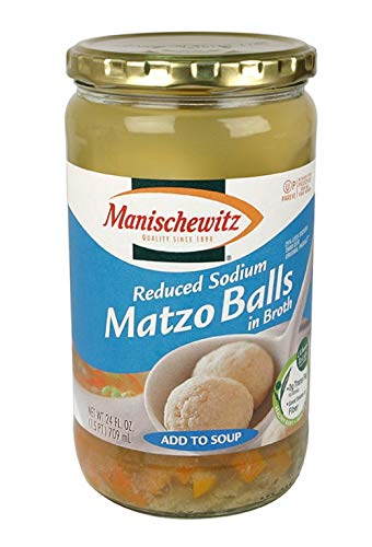 Manischewitz Matzo Balls in Broth Add to Soup - Reduced Sodium 24 oz. (Pack of 2) ()