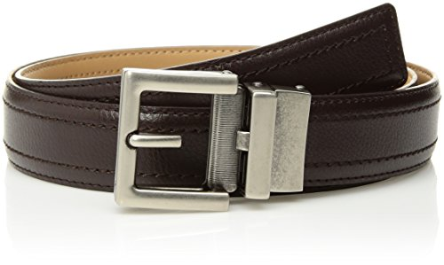 (Comfort Click Boy's Adjustable Perfect Fit Pebble Leather Belt - As Seen On Tv, Espresso/Natural - Tarnished Gunmetal, ONE SIZE)