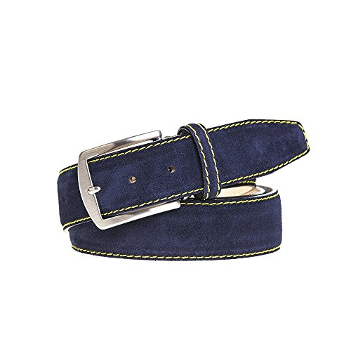 Navy Suede Leather Belt by Roger Ximenez: Bespoke Maker of Fine Leather Goods