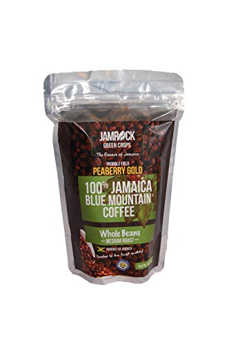 100% Jamaican Blue Mountain Coffee - PEABERRY GOLD - 4 oz.