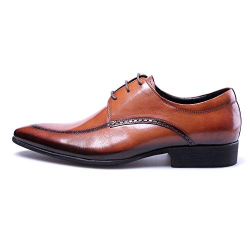 Risvolto da Brown Uomo Uomo Classiche da Lavoro con Scarpe in in Uomo da Scarpe Pelle Fashion da Derby Pelle PHdBq