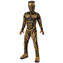 Rubie's Child's Deluxe Black Panther Movie Erik Killmonger Costume, Black/Gold, Large