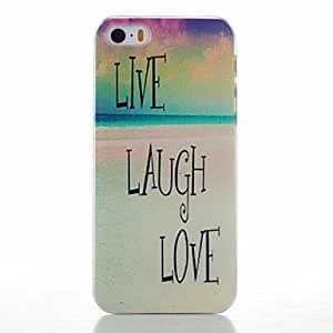 ZL Letter Pattern PC Hard Case for iPhone 5/5S