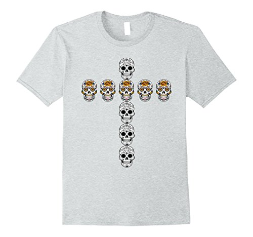 Day Of The Dead Dress Ideas (Mens Dia de los Muertos Day of the Dead Halloween Costume Shirt 2XL Heather Grey)