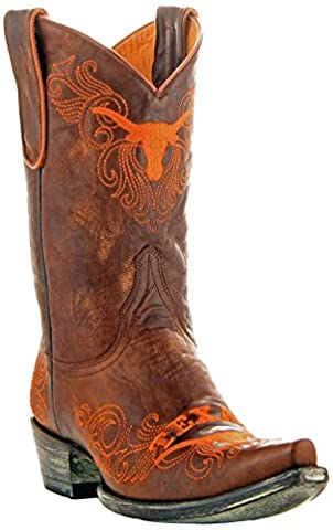NCAA Texas Longhorns Women's 10-Inch Gameday Boots, Brass, 6.5 B (M) US (University Of Texas Boots)