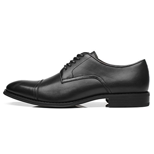 La Milano Heren Oxfords Klassiek Modern Round Captoe Schoenen Splendo-1-zwart
