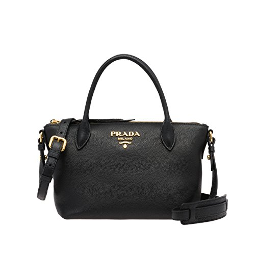 Authentic Prada Leather Handbag - PRADA Bags Cross Body Handbags Black Leather 100% authentic