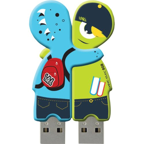 Elec Dane Drive Usb 4gb - Dane-Elec 4GB USB Sharebytes Flash Drive, 2 Pack, Monster (DA-Z04GSBK5-C)