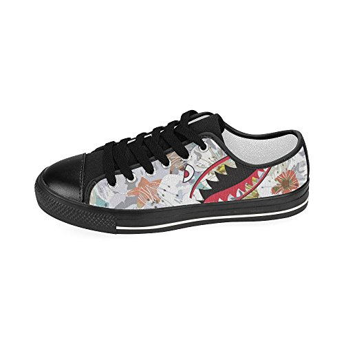 Shark Striped Story Classic D Canvas Sneaker Womens Custom Shark2 Teeth Shoes Rainbow Fashion xEnxdFaSw