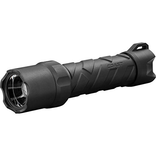 COAST Polysteel 600 710 Lumen Waterproof Pure Beam Focusing LED Flashlight with Twist Focus and Stainless Steel Core