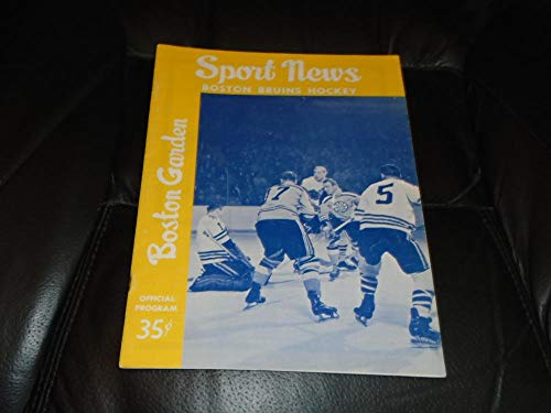 1963 1964 DETROIT RED WINGS AT NEW YORK RANGERS NHL HOCKEY ()