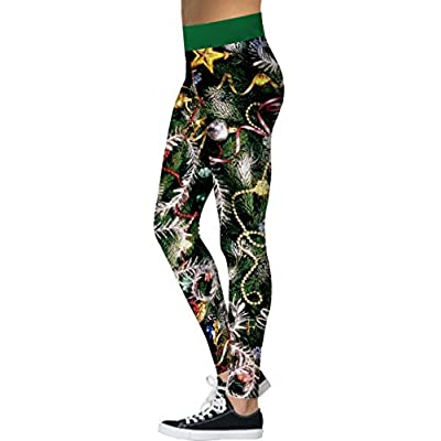 Molysmia Womens Christmas Leggings Soft Printed Fashion Ankle Length Stretchy Legging Pants at  Women's Clothing store